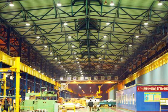 중국 청도포항불수강, 친환경 스마트 LED 산업용 조명으로 교체